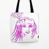 nicki Tote Bags featuring cronart by cronart