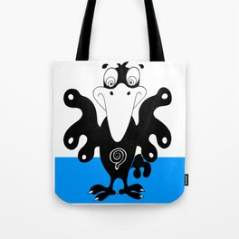 Bird on curtain Tote Bag