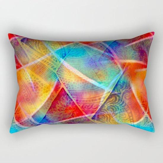 Boho Rainbow Rectangular Pillow