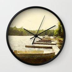 Lily Bay Docks, Maine Wall Clock
