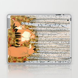 Fox family in the autumn forest Laptop & iPad Skin