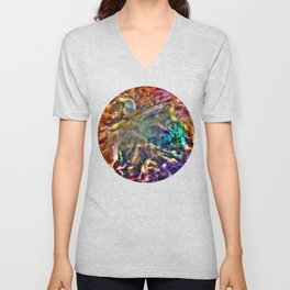Colorful Cosmos Unisex V-Neck