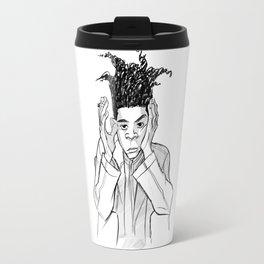 saturated basquiat Travel Mug