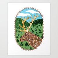 Spirit Elk Art Print