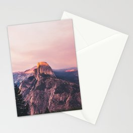 Purple Yosemite Valley in California United States of America Stationery Cards