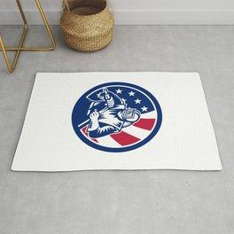 American Sandblaster USA Flag Icon Rug