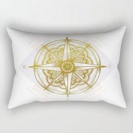 Golden Compass Rectangular Pillow