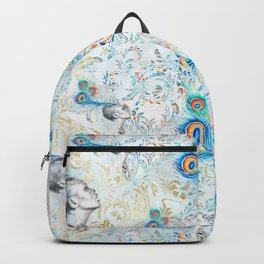 Feather peacock #14 Backpack