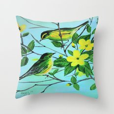 Thinking of spring  Throw Pillow