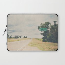 Texas state line ... Laptop Sleeve