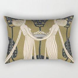 Art Nouveau Women Rectangular Pillow