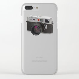 Leica M9 Camera polygon art Clear iPhone Case