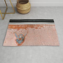 Antique Rusted Car Called Commander Rug