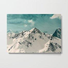 Snow Peak Metal Print