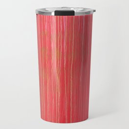 Streaked and Weathered Red Riveted Metal Travel Mug