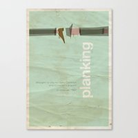 movie posters Canvas Prints featuring Planking - Meme Movie Posters by Stefan van Zoggel