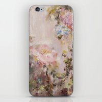 nursery iPhone & iPod Skins featuring Flora painting/Nursery by Erin Zhao