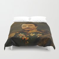 tom hiddleston Duvet Covers featuring Tom Selleck - replaceface by replaceface