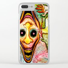 Deceptive Perspective Clear iPhone Case