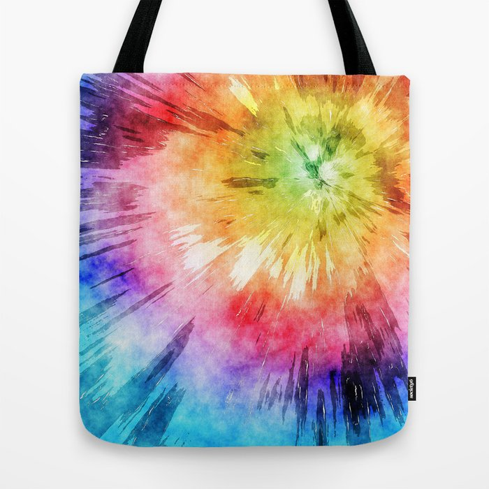 Tie Dye Watercolor Tote Bag