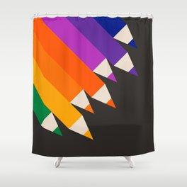 Rainbow Pencils Shower Curtain