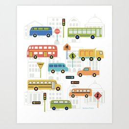 Bus Stop Art Print