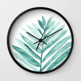 Green Palm Leaf Wall Clock