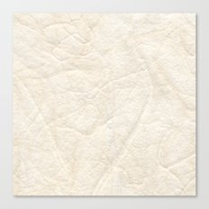 Cream White Textured Paper Threads Canvas Print
