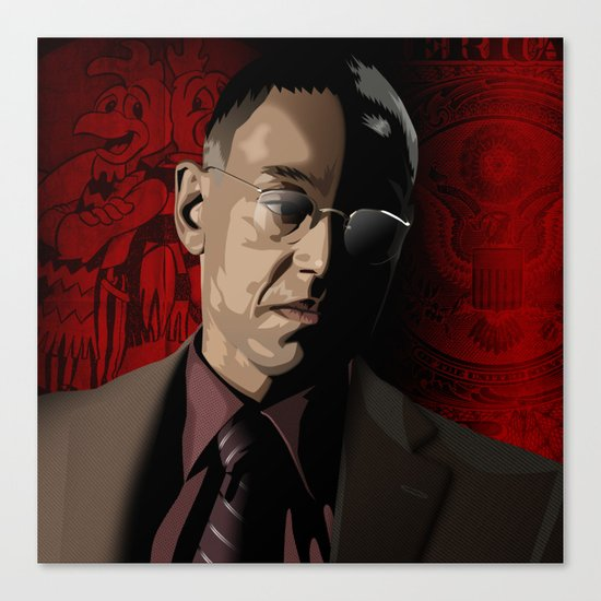 Breaking Bad Illustrated - Gustavo Fring Canvas Print