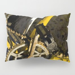 Yellow Bike Pillow Sham