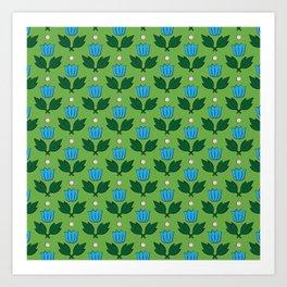 Minimal Floral Pattern Art Print