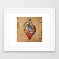 "crane Framed Art Prints featuring ""CRANE"" by Magdalena Sky - The Moth"