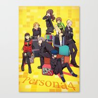 persona Canvas Prints featuring PERSONA 4 by JJ&EB