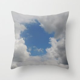Round hole in the clouds Throw Pillow