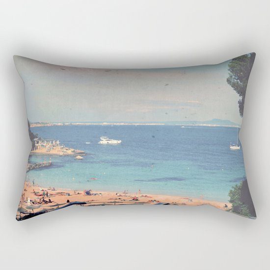 A Private Mallorcan Beach For All Of Us Rectangular Pillow