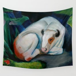 """Franz Marc """"The Steer (also known as The Bull or White Bull)"""" Wall Tapestry"""
