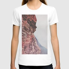 Person-like mountain formation T-shirt
