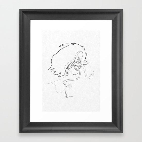 One Line Captain Harlock/Albator Framed Art Print