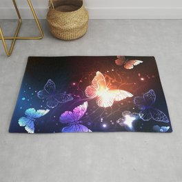 Night Butterflies Rug