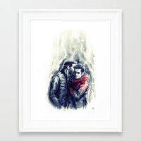 sterek Framed Art Prints featuring sterek III by AkiMao