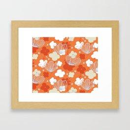 Spring Garden M+M Tangerine by Friztin Framed Art Print