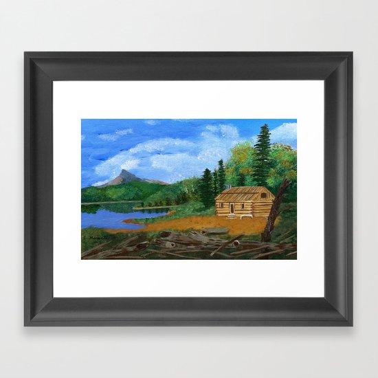 Old cabin Framed Art Print