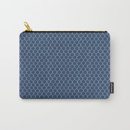 Chicken Wire Navy Carry-All Pouch