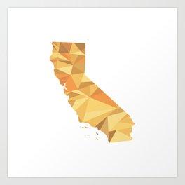 California Pattern Map Art Art Print