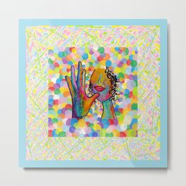 ASL Mother for Baby Boy Nursery Metal Print