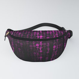 Bright Neon Pink Digital Cocktail Party Fanny Pack