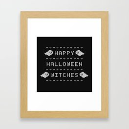Happy Halloween Witches (knitted) Framed Art Print