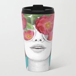 The optimist // rose tinted glasses Metal Travel Mug
