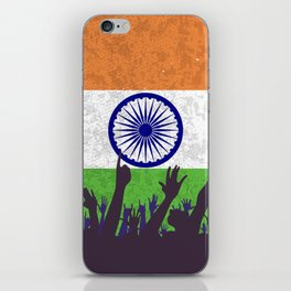 India Flag with Audience iPhone Skin