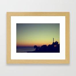 malibu sunset, fall Framed Art Print